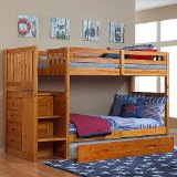 Honey Twin Twin Mission Bunk w/ Trundle
