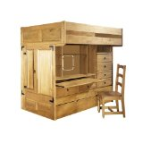 Powell Rustica Full Over Twin All in One Bunk Bed with Chair (ships in 6 cartons)