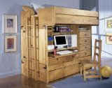 Powell 836-944 Rustica Full Over Twin All in One Bunk Bed with Chair ships in 6 cartons