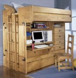 Rustica Full over twin All in one Bunk Bed & Chair