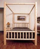 Old Adirondack - OA-271-T - Cumberland Bay Canopy Bed - White Cedar - Twin