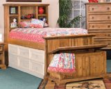 Kush Furniture 4034 Big Sur Pine Twin Captain Bed in Pine Finish