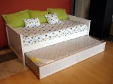 Solid Pine American Day Bed With Pop Up Trundle White
