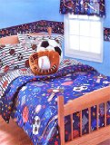 Sports Zone - 4pc BED IN A BAG - Twin Bedding