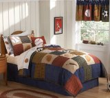 Classic Sports Full / Queen Quilt with 2 Shams