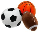 InStyle Home Collection In Play 3-Piece Sports Ball Pillow Set