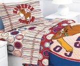Scooby-Doo Baseball Homerun - 4pc Bed Sheet Set - Full Size Bedding