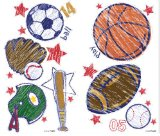 Crayola Sports Wall Stickers