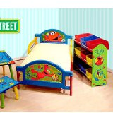 Sesame Street Elmo Theme Room in a Box Bed Toybox Table