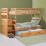 Explorer Twin Twin Ranch Staircase Bunk with Trundle