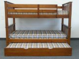 Bunk Bed Twin over Twin Mission style in Expresso with Twin Trundle