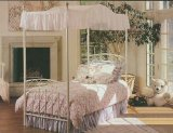 Emily Full White Complete Canopy Bed