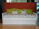 Solid Pine American Day Bed With Trundle White