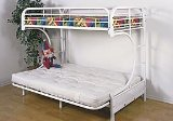 New C Style Twin/futon Bunk Bed White