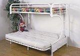 New C Style Twin/futon Bunk Bed White