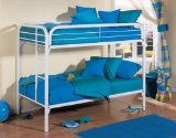 WHITE METAL TWIN SIZE BUNK BED TUBING & LADDER B7028W