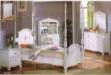 Motif Bouquet Twin Poster Bed/Nightstand/Mirror/Dresser