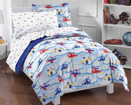 Red and Yellow Plane Bedding